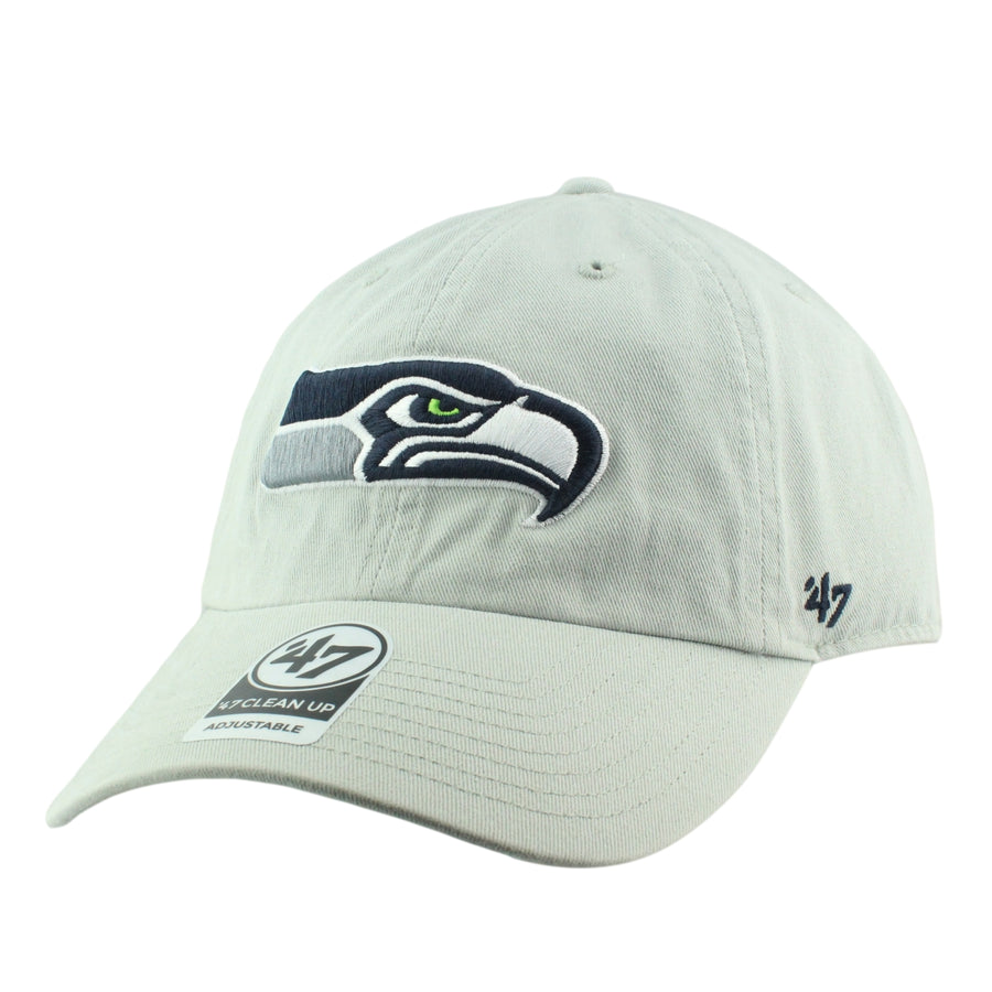 2af0e0452  47 Seattle Seahawks Clean Up Gray Gray Slouch Strapback