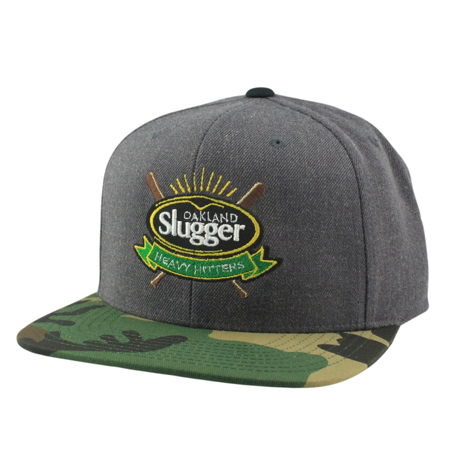 Retired Numbers Retired Numbers Oakland Slugger Gray Camo Snapback dc6609eaa5ce