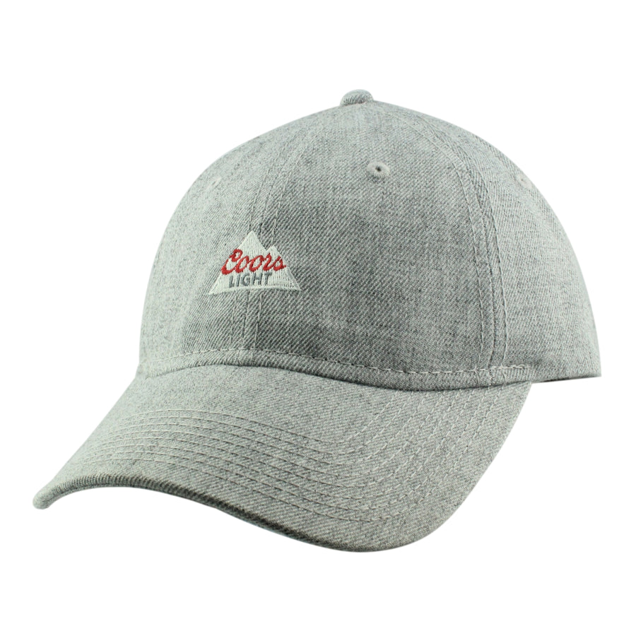 6bf012dc709c4 H3 Sportgear Coors Light Logo Heather Gray Gray Slouch Strapback