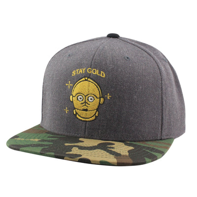 Comic Co. Comic Co. Stay Gold C3PO Gray/Camo Snapback