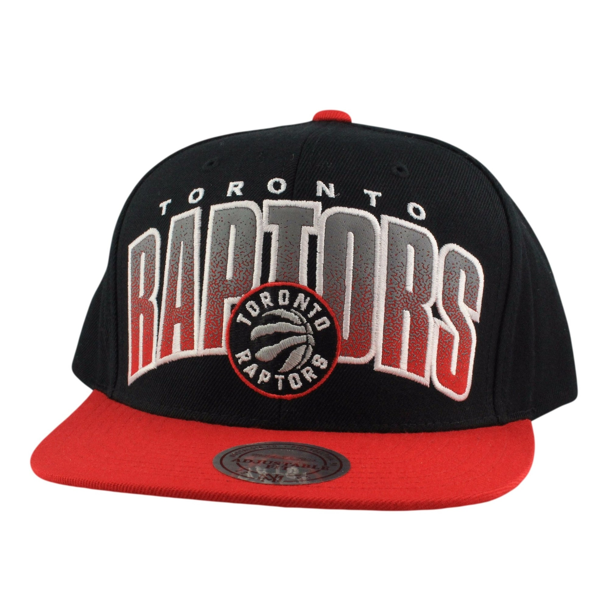 a779260b319 Mitchell and Ness Toronto Raptors Double Bonus Black Red Snapback