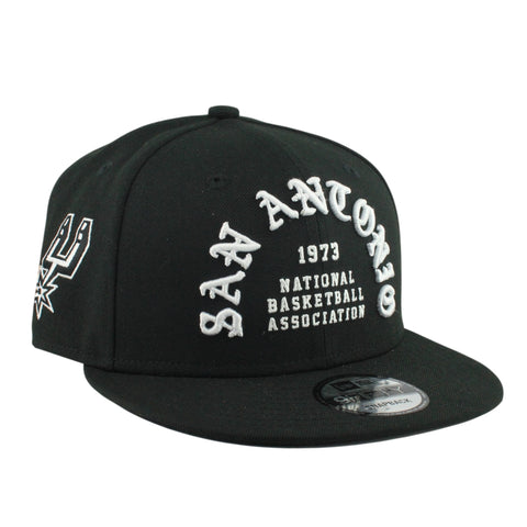 San Antonio Spurs White Team Deluxe Black/Black Snapback