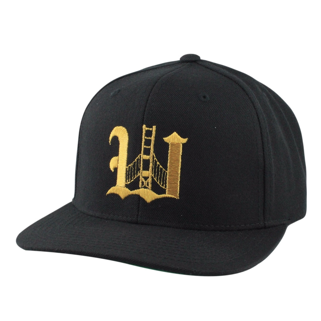 Retired Numbers, Retired Numbers Olde W Black/Black Snapback - Bespoke Cut and Sew