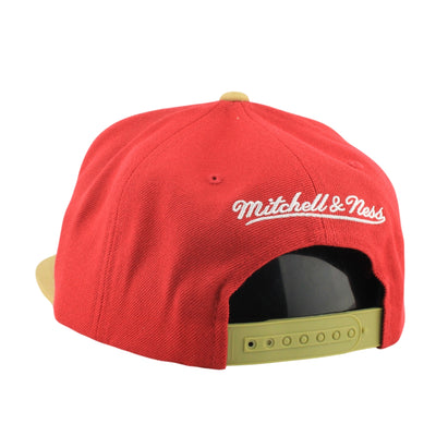 Mitchell and Ness:San Francisco 49ers XL Logo R/BR Snapback