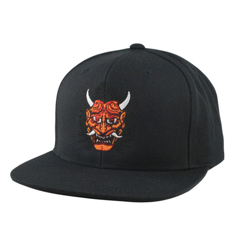 Rezen Red Horned Oni Black/Black Snapback