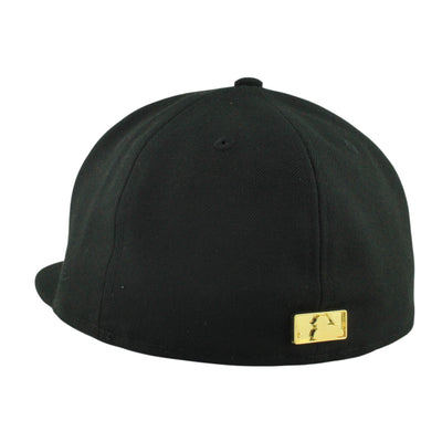 New Era:San Francisco Giants Golden Finish Metal BlackBlack Fitted