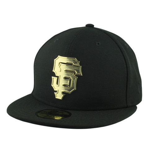 San Francisco Giants Golden Finish Metal BlackBlack Fitted
