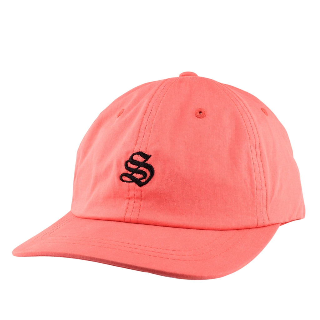 Stussy Bio Washed Cotton Low Red/Red Slouch Strapback, Stussy