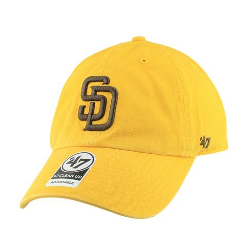 San Diego Padres Clean Up Yellow/Yellow Slouch Strapback