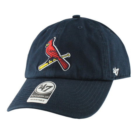 St. Louis Cardinals Bird Clean Up Navy/Navy Slouch Strapback