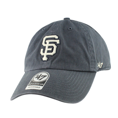 San Francisco Giants Clean Up Vintage Navy/Navy Slouch Strapback