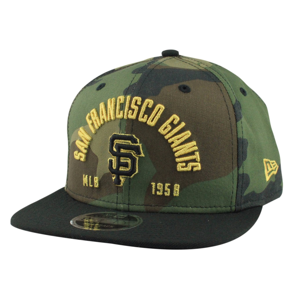 San Francisco Giants Establisher Camo/Black Snapback