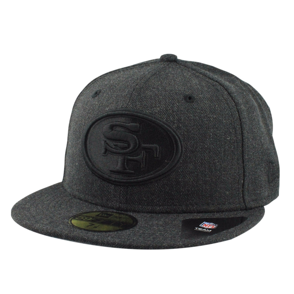 San Francisco 49ers Total Tone Charcoal/Charcoal Fitted, New Era