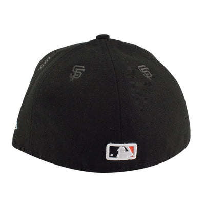 0641f5c11 New Era San Francisco Giants Logo Repeat Black Black Fitted