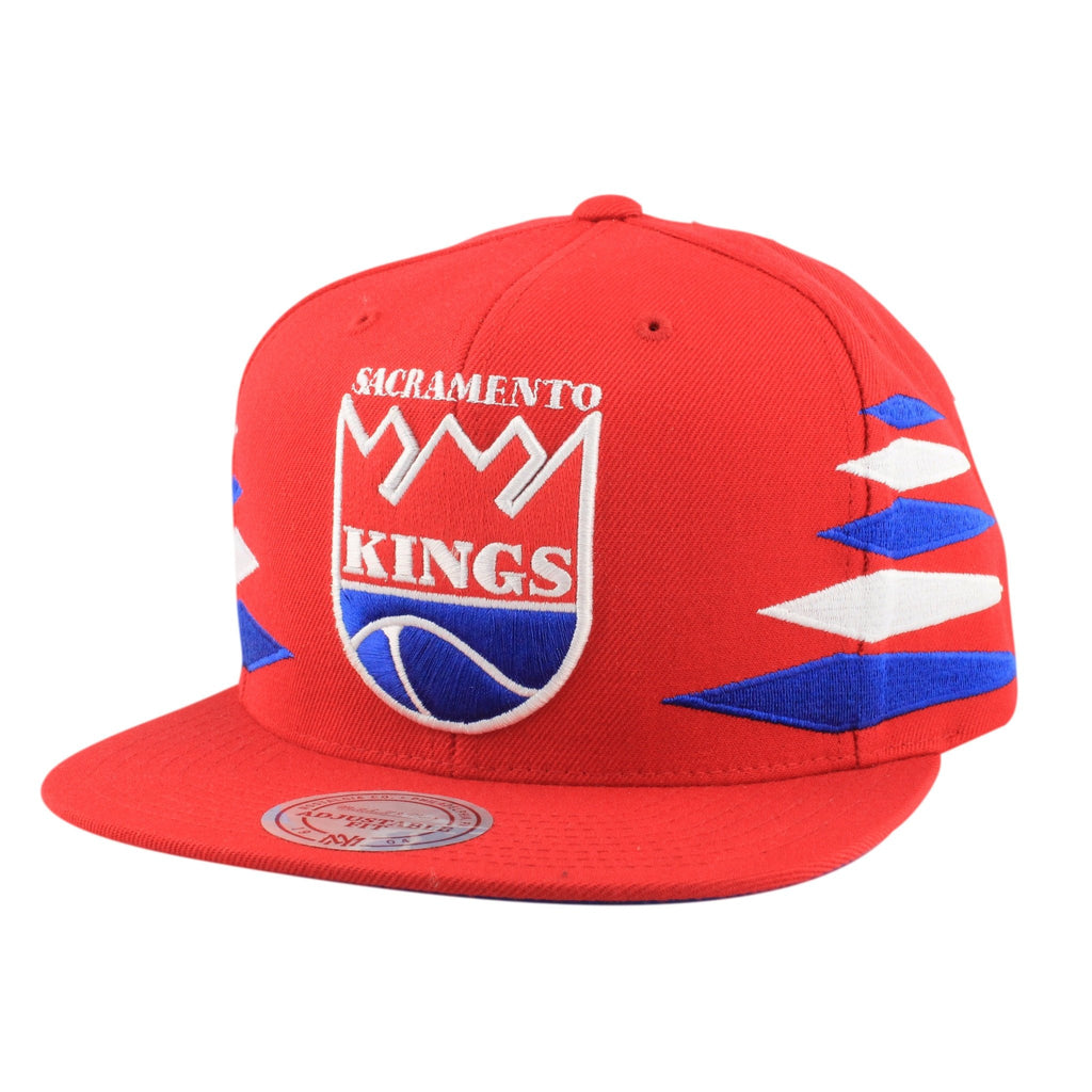 Sacramento Kings Solid Diamond Red/Red Snapback, Mitchell and Ness
