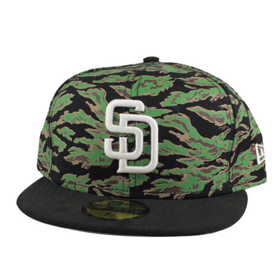 New Era San Diego Padres Logo Tiger Camo/Black Fitted