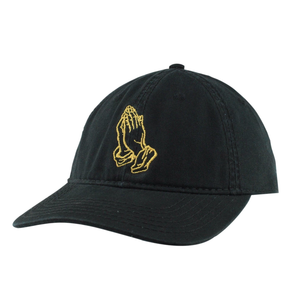 Vice Gold Praying Hands Black/Black Slouch Strapback, Vice