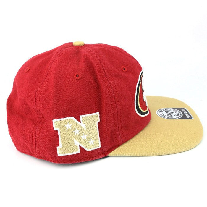 47 Brand NFL Adjustables, San Francisco 49ers Logo Red/Brown Snapback - Bespoke Cut and Sew