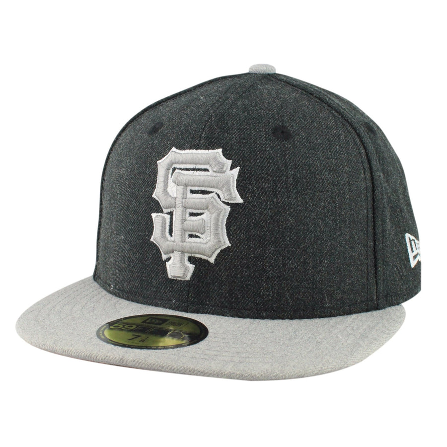 7a6bd09b7d9 New Era San Francisco Giants Heather Action Charcoal Gray Fitted