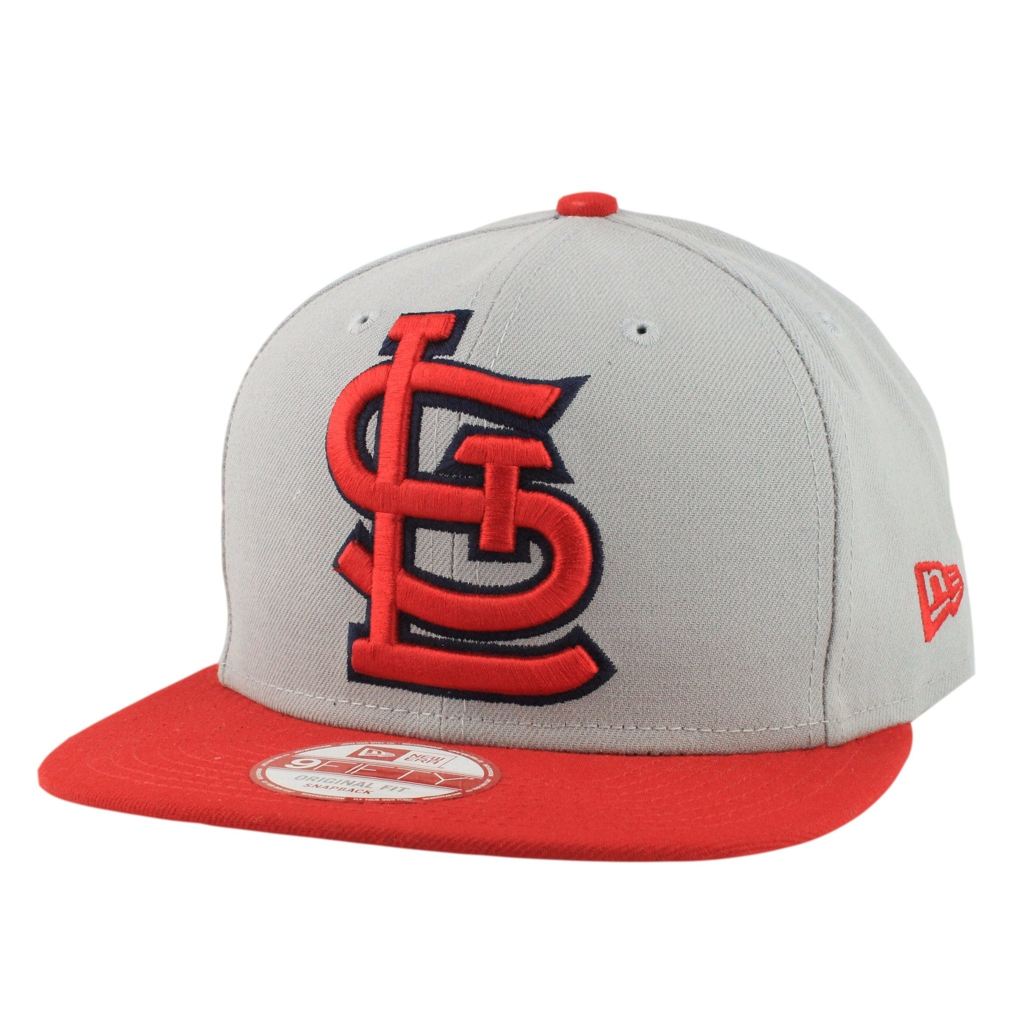 st louis cardinals logo grand redux grayred snapback new era