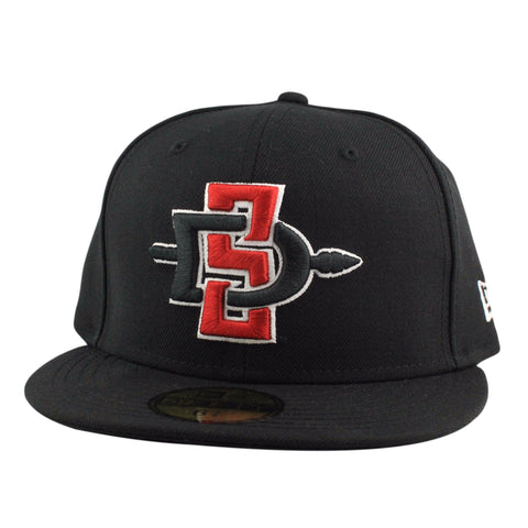San Diego State Aztecs Primary Logo Black/Black Fitted, New Era