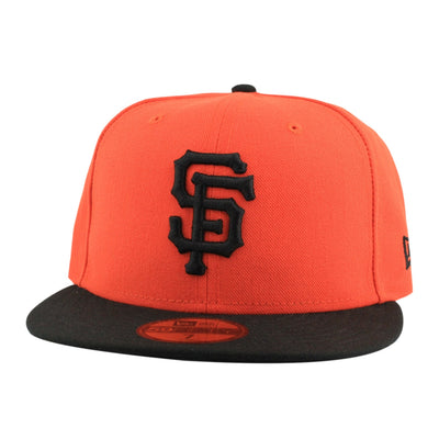 New Era San Francisco Giants Black Logo Orange/Black Fitted