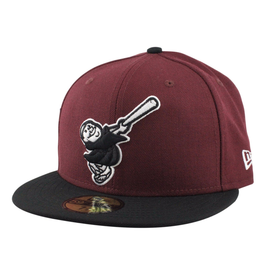 0c59578c1fa New Era San Diego Padres Cooperstown Maroon Black Fitted