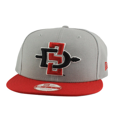 New Era San Diego State Aztecs Primary Gray/Red Snapback
