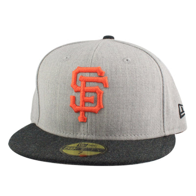 New Era San Francisco Giants Heather Action Gray/Black Fitted