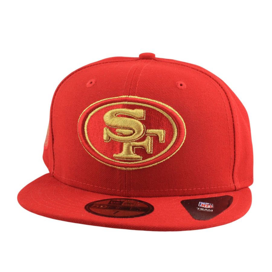 online store 0b67c a7f09 New Era San Francisco 49ers Finest Red Red Fitted
