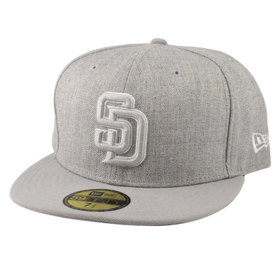 New Era San Diego Padres Heather League Heather Gray/Gray Fitted