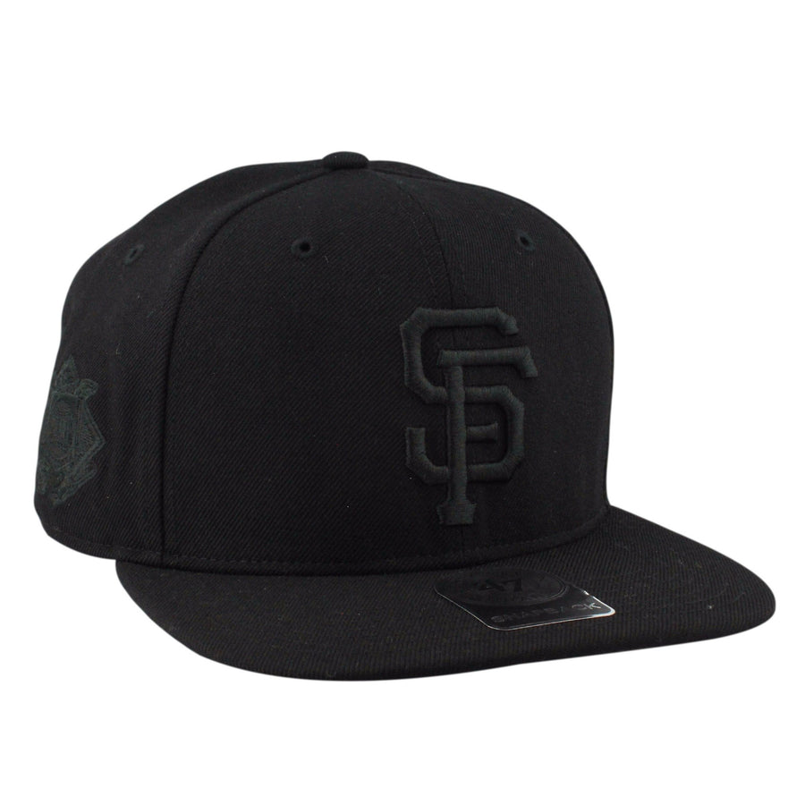 83a182987cc57  47 San Francisco Giants Black Sure Shot Black Black Snapback