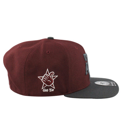 '47 Texas A&M Aggies Sure Shot Maroon/Gray Snapback