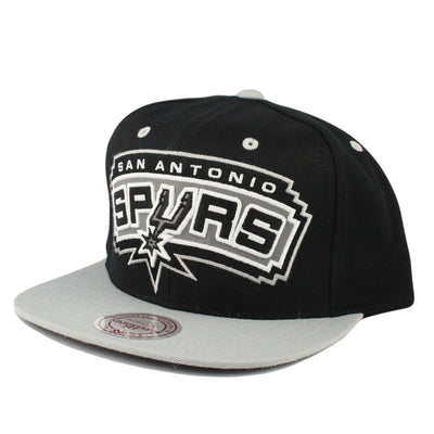 Mitchell and Ness San Antonio Spurs Reflective XL Black/Gray Snapback