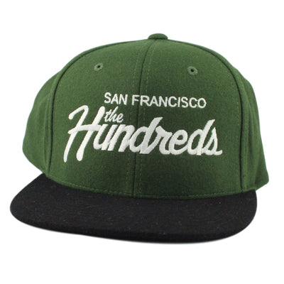 The Hundreds The Hundreds Team Wool SF Green/Black Snapback