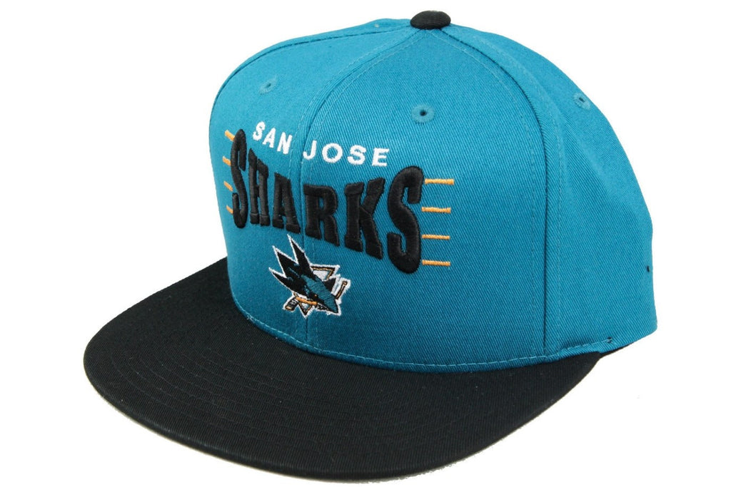 San Jose Sharks Zone Squeeze Blue/Black Snapback - Bespoke Cut and Sew