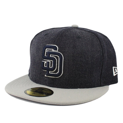 New Era San Diego Padres League Denim/Gray Fitted