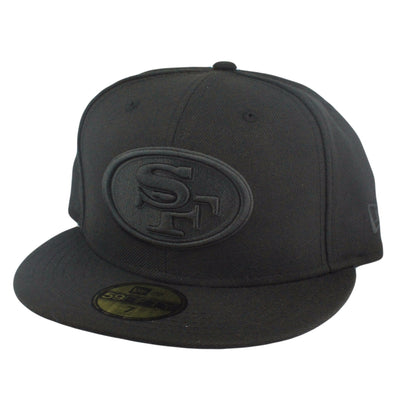 New Era San Francisco 49ers All Black Logo Black/Black Fitted
