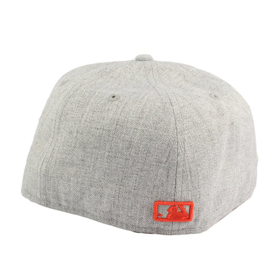 New Era San Francisco Giants Orange Logo Gray/Gray Fitted