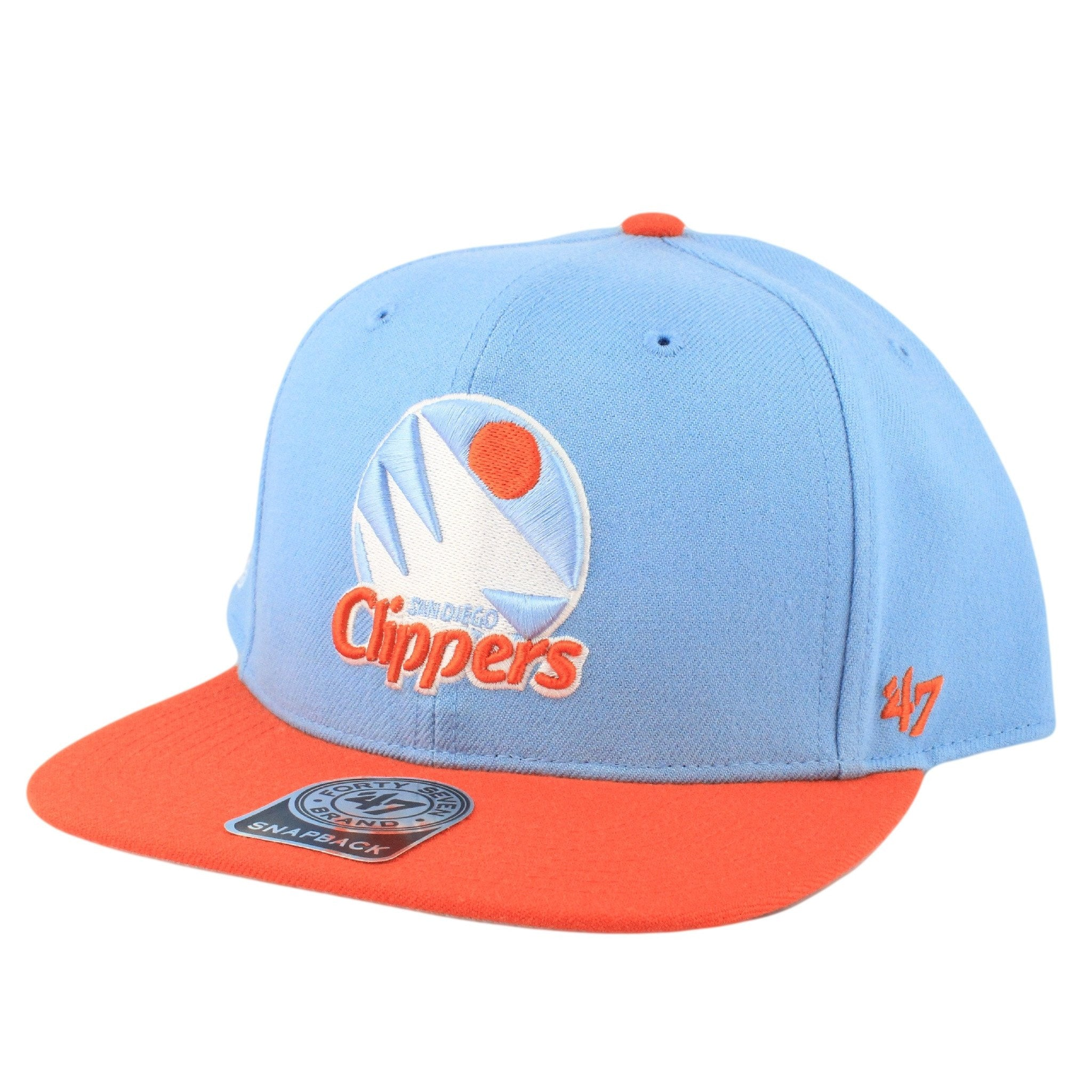 San Diego Clippers Sure Shot Blue Orange Snapback  1057534c446