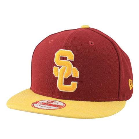USC Trojans Team Solid Maroon/Yellow Snapback - Bespoke Cut and Sew - 1