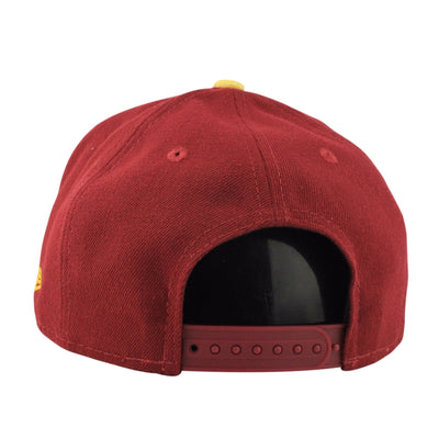 New Era USC Trojans Team Solid Maroon/Yellow Snapback