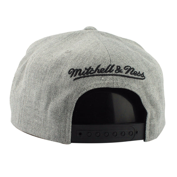 San Antonio Spurs Tri Pop Special Script Gray/Gray Snapback - Bespoke Cut and Sew - 2