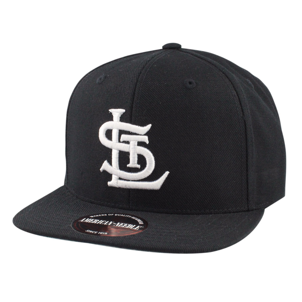 American Needle, St. Louis Cardinals Side Line Black/Black Snapback - Bespoke Cut and Sew
