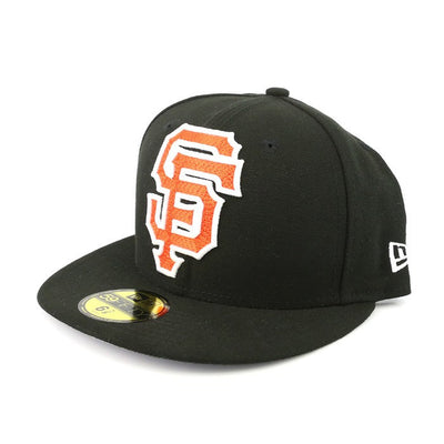 New Era San Francisco Giants XL Logo Black/Black Fitted