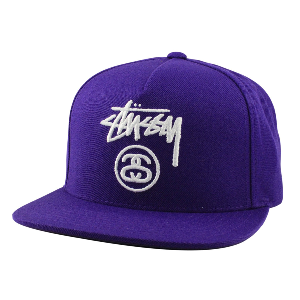 Stussy Stock Lock HO16 Purple/Purple Snapback - Bespoke Cut and Sew - 1