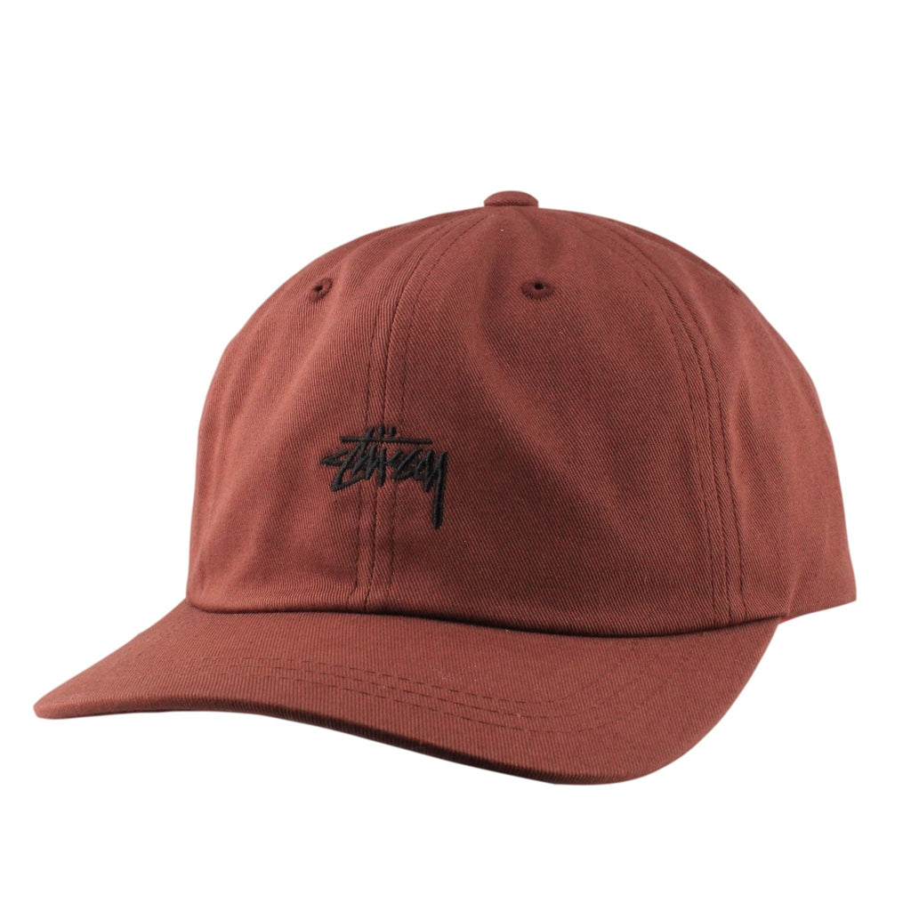 Stussy Stock Low Maroon/Maroon Slouch Strapback - Bespoke Cut and Sew - 1