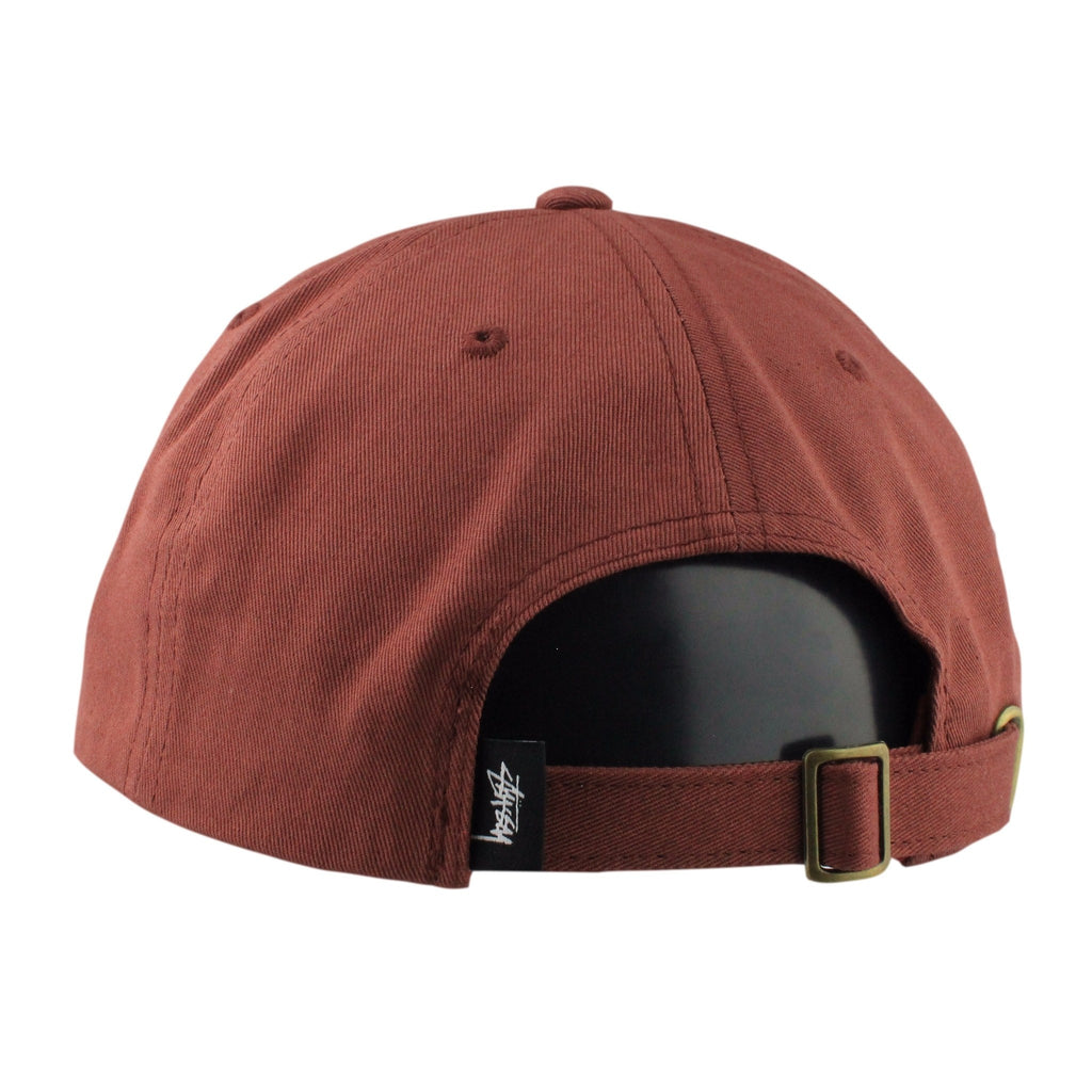 Stussy Stock Low Maroon/Maroon Slouch Strapback - Bespoke Cut and Sew - 2