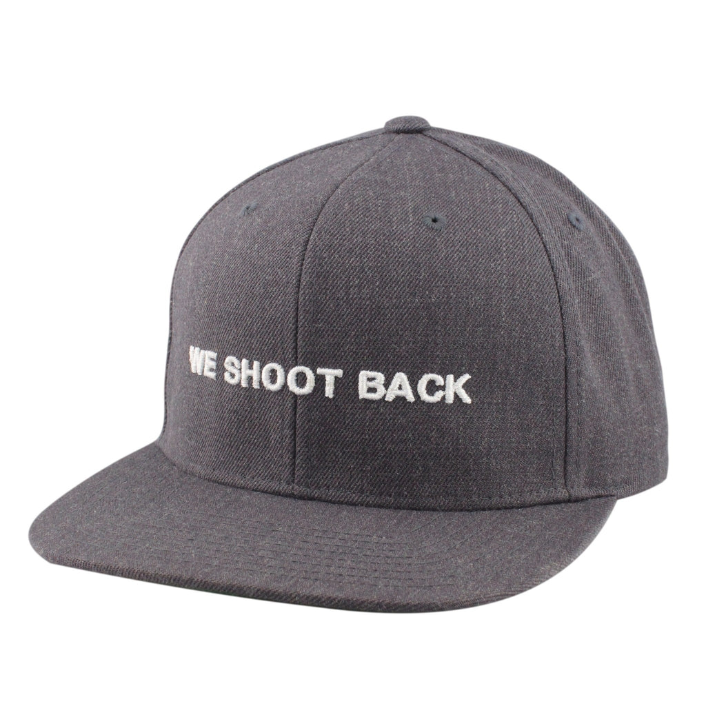 Vice, Vice We Shoot Back Gray/Gray Snapback - Bespoke Cut and Sew