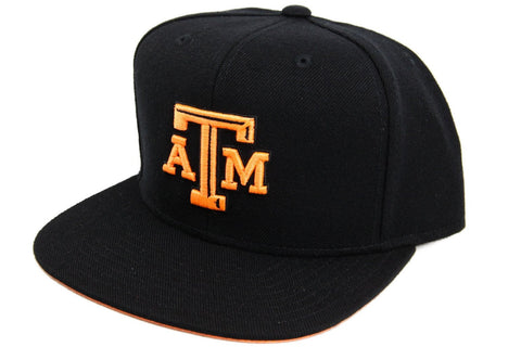 Texas A&M Aggies Logo Black/Black Adidas Snapback, Mitchell and Ness